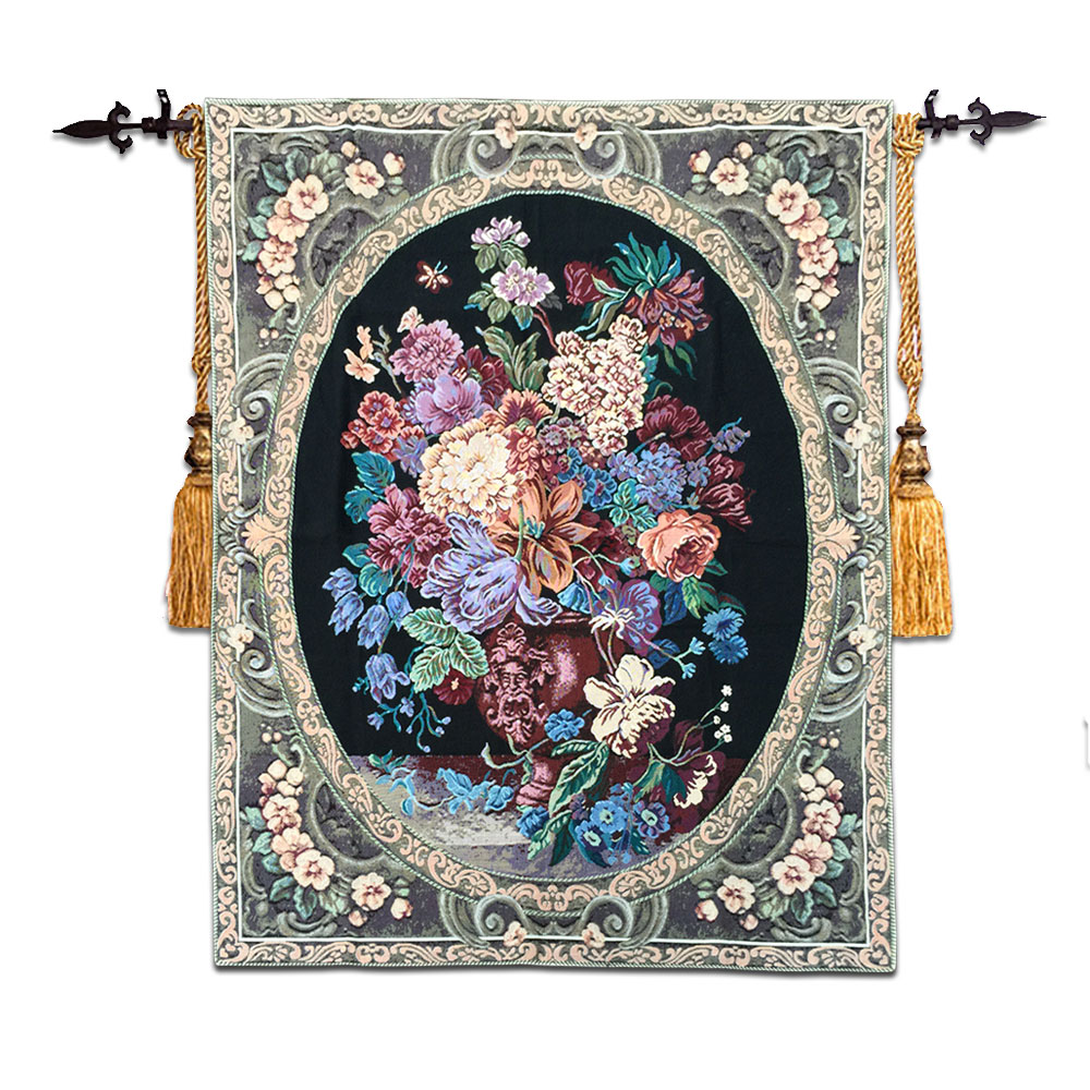 High end Cotton Floral Wall Tapestry Wall Hanging Tapestries Fabric Moroccan Decor Gobelin Wall Carpet Medieval
