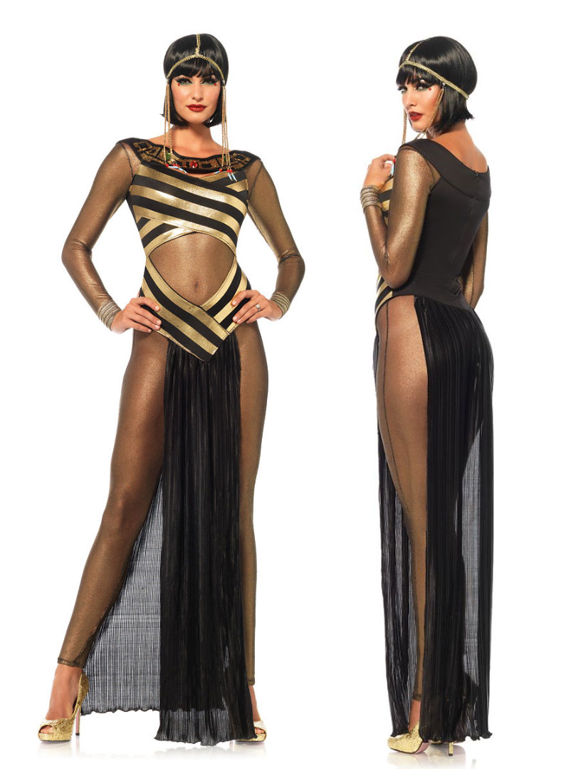 Egypt Cleopatra Goddess Roman Egyptian Ladies Halloween Fancy Dress Costume M8822