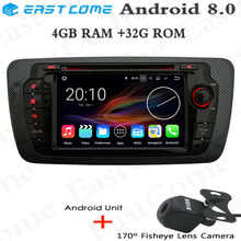 HD Android 8.0 Octa Core 4GB RAM Car DVD Player Radio For Seat Ibiza 2009 2010 2011 2012 2013 Car Radio Stereo GPS Navigation