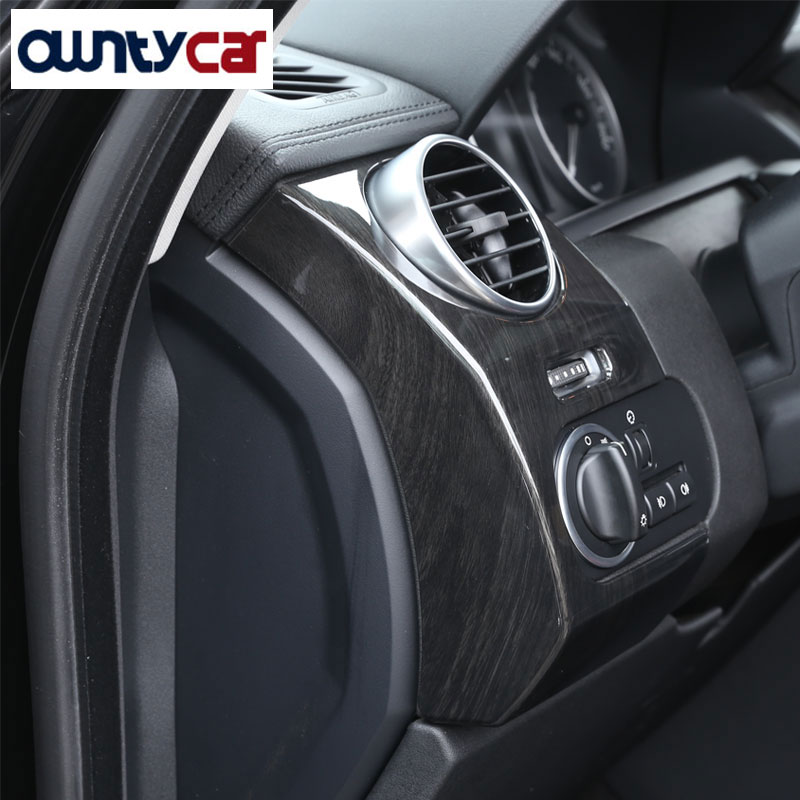 Luxury Interior Molding For Land Rover Discovery 4 LR4 ABS Dark Wood Grain Side Air Conditioning Vent Cover Trim 2012+ уровень пузырьковый vira 100101