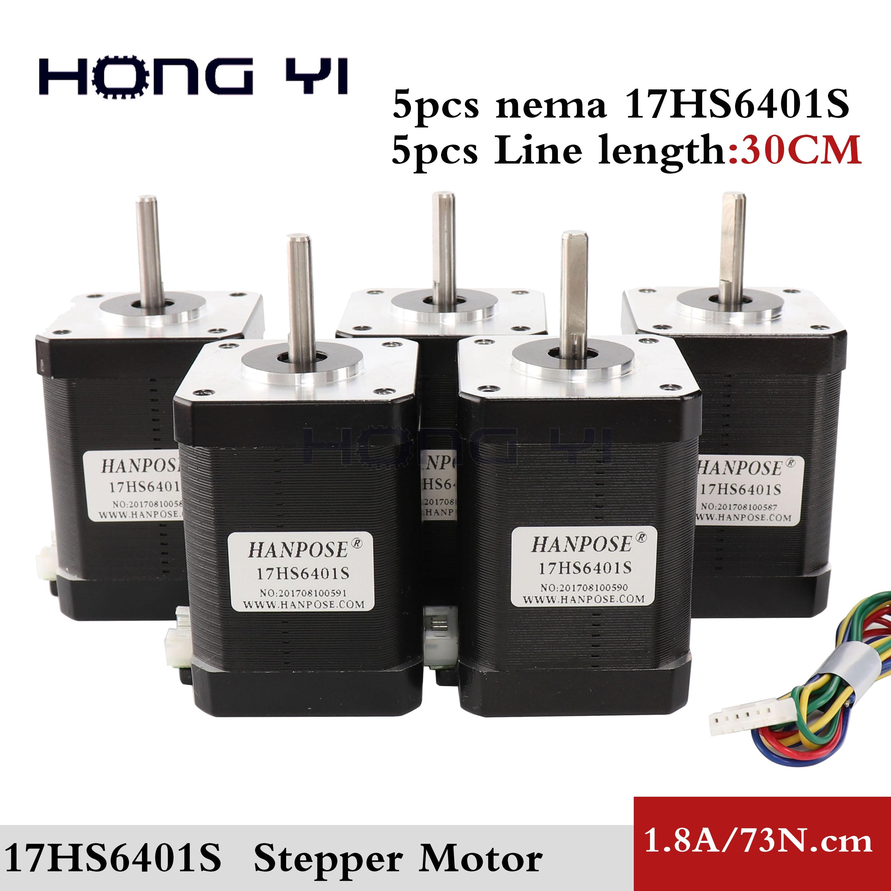 5PCS Nema 17 Stepper Motor 2 Phase 4 lead 73Ncm 92oz in 1 8A 60mm Nema17