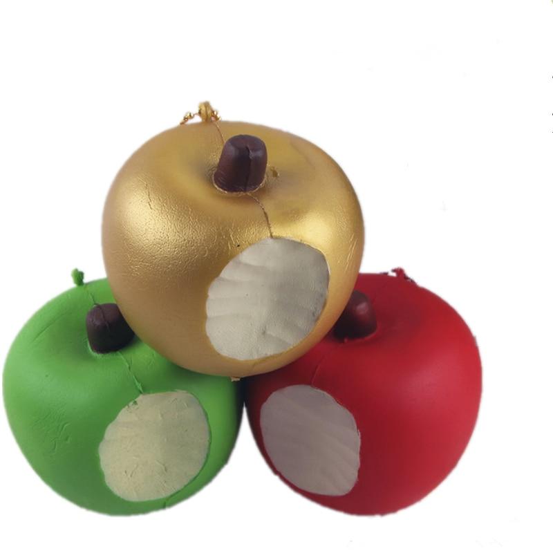Jumbo Squishy lassan növekvő Kawaii 11cm-es alma Puha Squeeze - Mobiltelefon alkatrész és tartozékok