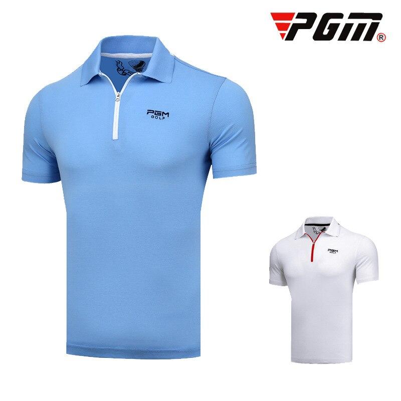 Hommes Pgm T-Shirt ajustement sec respirant Golf hauts hommes à manches courtes fermeture éclair col uniformes chemises vêtements AA11834