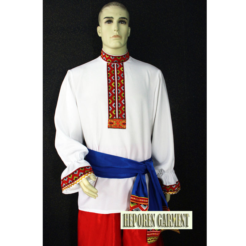 Купить с кэшбэком Custom Man Russia National Costumes,Folk Dance Jacket And Pants For Male Suits For Adult or Children