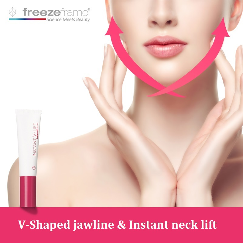 Australia Freezeframe V Shape Neck Chin Lift Cream for Dropping jawlines Sagging neck Tighten jawline Reduce