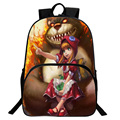 Fashion Game LOL Backpack 3D Anime Cartoon Printing School Backpack Women Mens Nylon Rucksacks Schoolbag Laptop Bag Bear mochlia