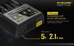 Image 5 - Nitecore SC4 インテリジェント高速充電極上充電器 4 スロット 6A 合計出力互換 imr 18650 14450 16340 単三電池