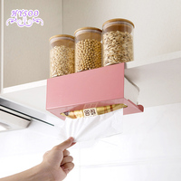 Iron Japanese Paper Towel Rack Cabinet Under The Paper Towel Rack Free Punching Kitchen Paper Storage