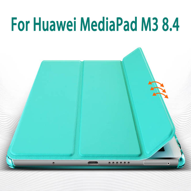 Magnetic PU Leather Case cover For Huawei MediaPad M3 8.4 inch Tablet PC Protective Case For Huawei M3 BTV-W09 BTV-DL09 ultra thin pu leather case cover for huawei mediapad m3 btv w09 btv dl09 8 4 inch tablet cases stylus film