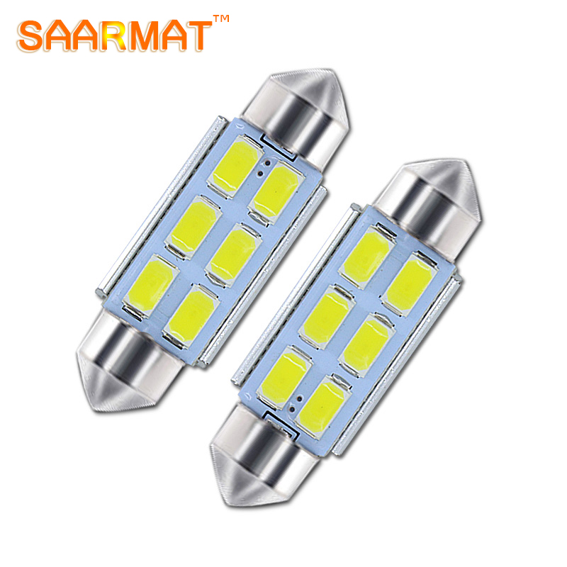 2x 31mm 36mm 39mm 41mm C5W License Plate lights LED auto Bulb 12 Chips C5W DC12V White Color Car Dome Light Auto Interior Lamp