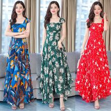 Spring, summer, new han edition is natural fashion chiffon dress code party brought French printing dress hisatsuna furuya systeme representif au japon french edition