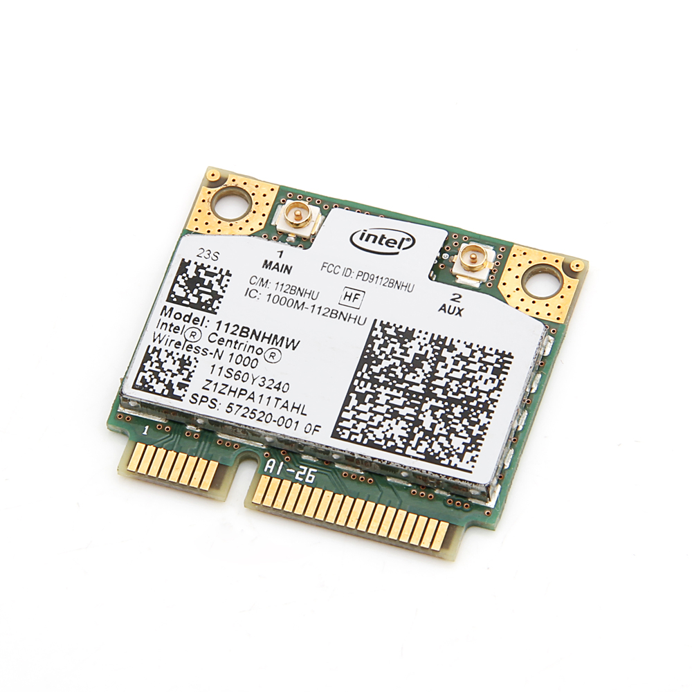 For Lenovo Intel Wireless-N 1000 112BNHMW 300Mbps Wifi Half Mini PCIe Card 802.11b/g/n 60Y3240 For Thinkpad L410 L510 SL510 X201