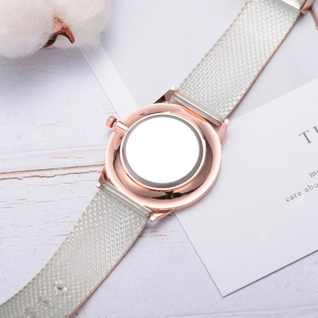 Lvpai 2019 Famous Brand Gold Silver Casual Quartz Watch Women's Casual Quartz Silicone strap Band Analog Wrist watch 4
