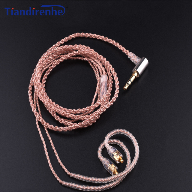 Upgrade HIFI MMCX Cable for Shure SE215 SE535 SE846 SE425 Earphone Headphone Wire with Heat Shrink Tubing for iPhone Android IOS