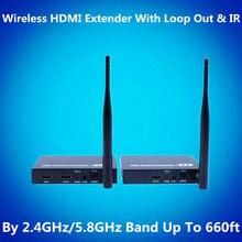 660ft Wireless HDMI Extender Kit 200m 1080P Wireless Video Audio Transmission WIFI HDMI Transmitter Receiver With Loop out & IR redamigo 5 8ghz wireless hdmi av video transmitter receiver ir extender up to 300m hdmi extender hdmi converter hdmi cable t580