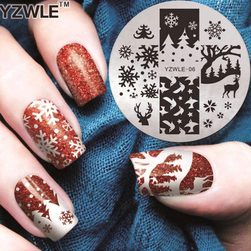 Christmas Nail Stencils Printable - Year of Clean Water