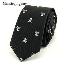 Фотография 2016 Hot Sale Neck Ties for Men 6cm SKinny Polyester Silk Neckties Skull Print Business Neckwear Corbatas Wedding Suits Gravatas