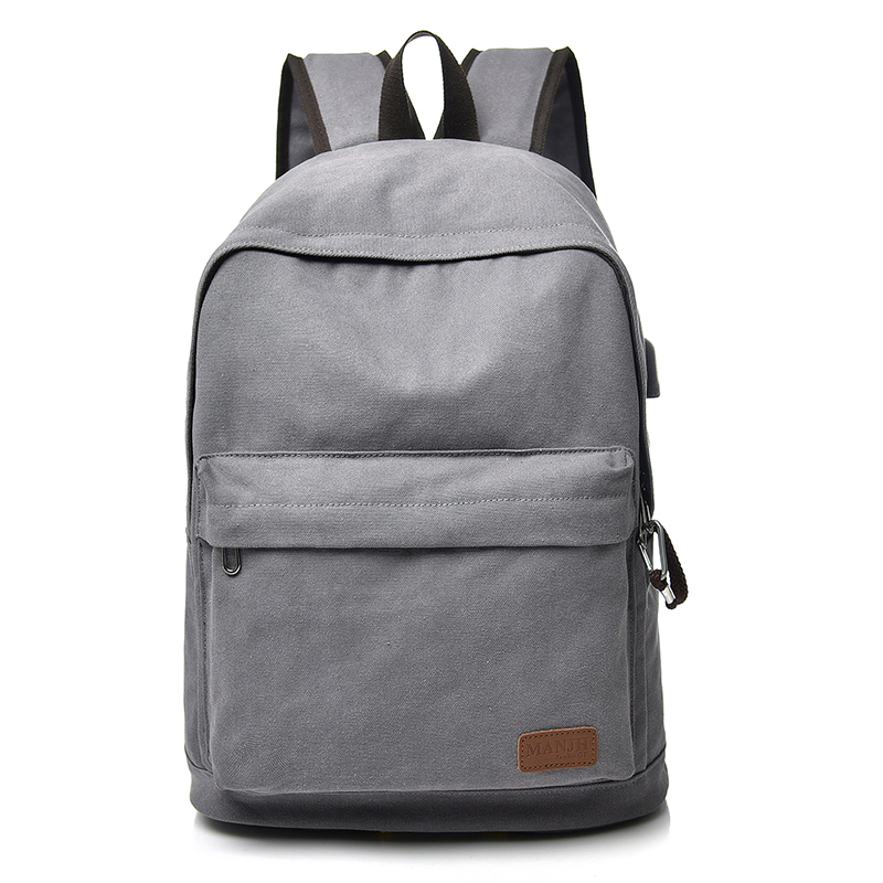 Fashion Canvas Men Backpack Travel Bags Anti-theft Women Laptop Backpack USB Charging Casual School Backpack For Teenager 1426 men usb charge backpack anti theft laptop backpacks large capacity fashion school bags boys teenager casual rucksack bag bp0165