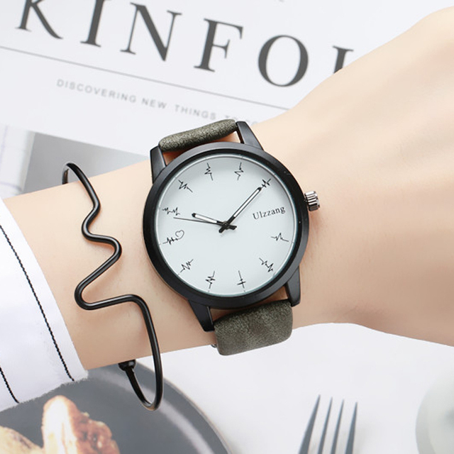 2018 Hot Fashion Contracted Quartz Watch Simple Exquisite Ladies Clock Creative