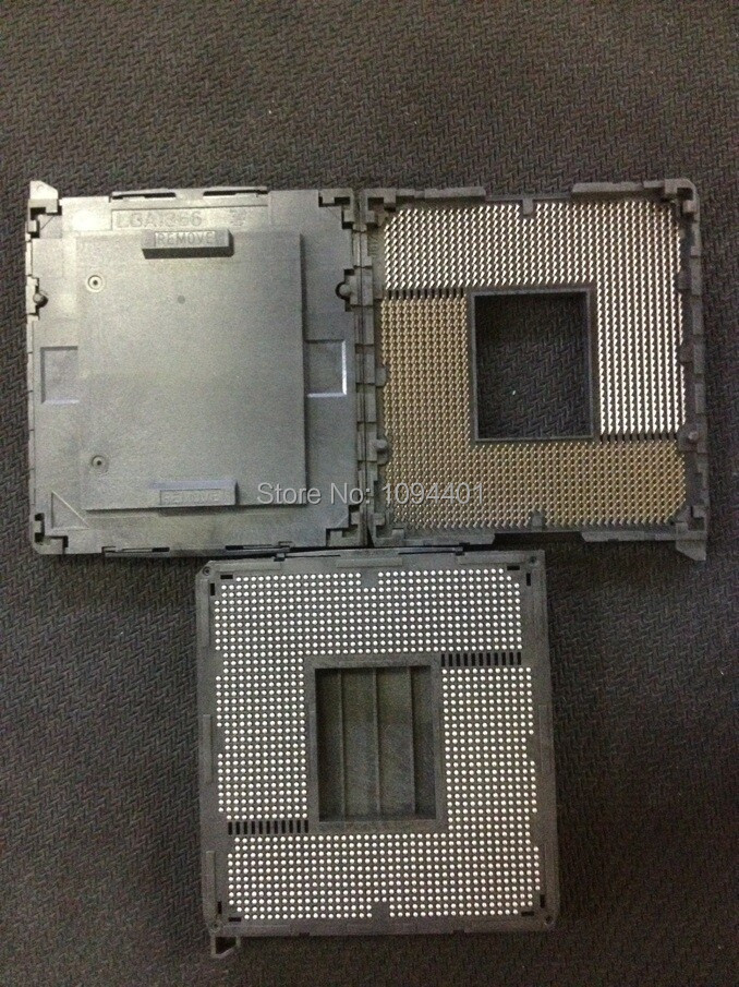 1pcs*   Brand New  LGA1366   LGA 1366 I7 W Cover pc CPU Socket Base BGA Connector new lga 1155 cpu bga soldering motherboard socket w tin balls