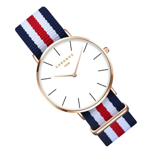 CHRONOS Watches Men Women Fashion Casual Sport Clock Classical Nylon Quartz Wrist Watch CH 0201 Rose gold adjustable wrist and forearm splint external fixed support wrist brace fixing orthosisfit for men and women