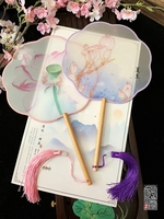 waaiers hand Fan Antique Transparent Circular Dance Hanfu Gift Fan eventail a main vintage bambu wedding favors and gifts