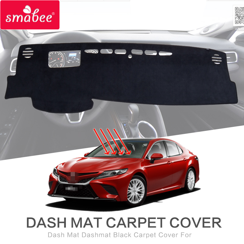 smabee Dash Mat Dashmat Black For toyota camry 8 2018 Carpet Cover Insulation mat Sunscreen insulation dashmat original dashboard cover buick skyhawk