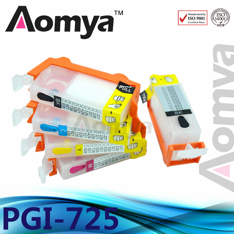 5 pcs пустая PGI-725 CLI-726 чернильный картридж PGI725 для CANON MG5170/MG5270/MG6170/MG8170/MX886/iP4870/iX6560 принтер с чипом