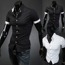 Новинка, мужские рубашки из хлопка с длинным рукавом и отложным воротником, мужские рубашки, приталенная повседневная одежда, Camisa Social Masculina