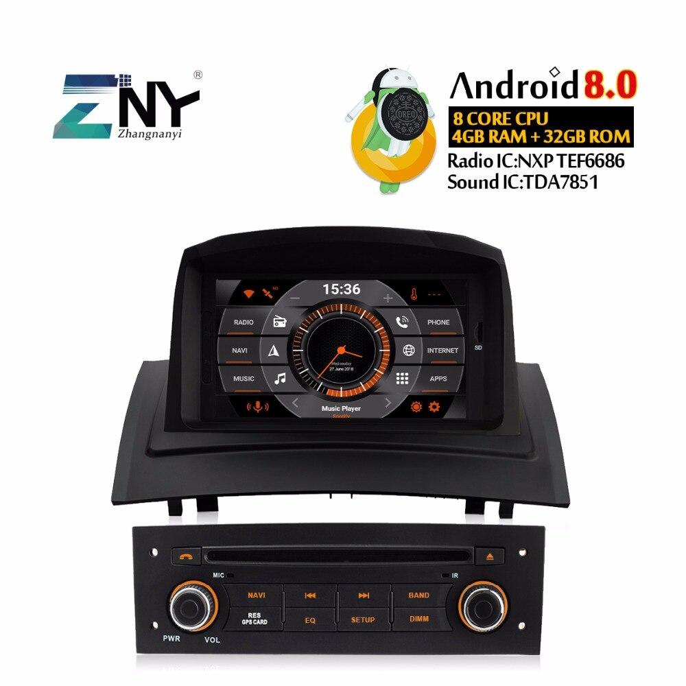 Android 8,0 автомобильный Радио dvd плеер для Renault Megane 2 2005 2009 7 ips авто стерео Мультимедиа gps навигация 4 + 32 ГБ Подарочная камера
