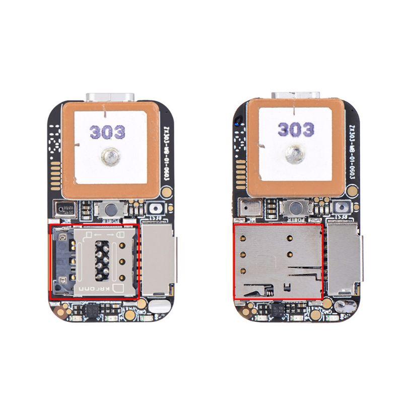 Super Tamanho Mini Rastreador GPS GSM Wifi AGPS LBS Localizador Livre Web APP Rastreamento Gravador de Voz ZX303 PCBA Dentro
