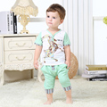 Summer Boy Clothing Sets Goat Print Infant Sets Top T-Shirts Trousers Pants Short Sleeve Folk-Custom Baby Boy Clothes
