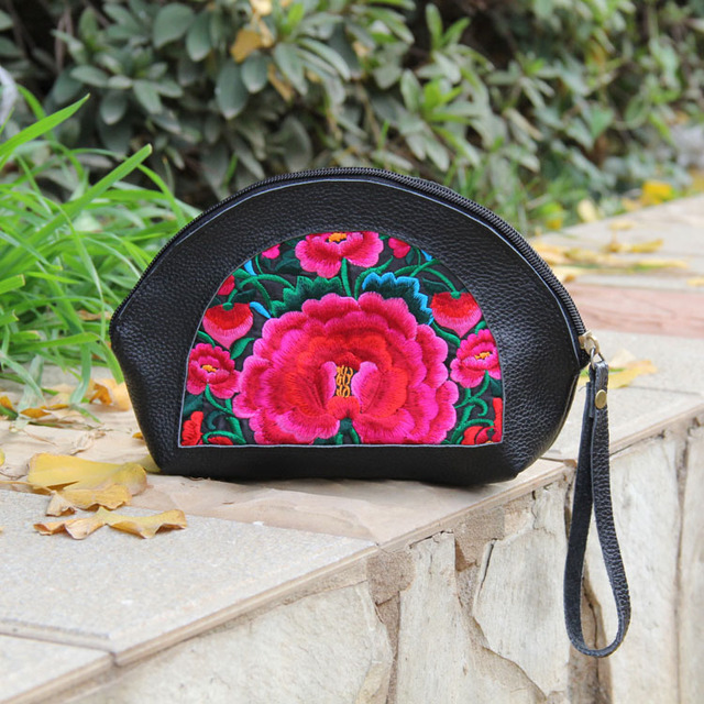 Free Shipping ! 2014 new fashion element national trend bags embroidery women's handbag cowhide embroidered bag day clutch