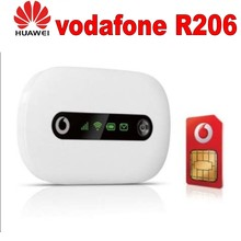 Vodafone R206 3G Mobile WiFi Hotspot 3g portable router huawei Vodafone mobile wi-fi router R206 cheap Firewall Wi-Fi 802 11b Wi-Fi 802 11n Wi-Fi 802 11g Wireless 2 4G Stock 7 2Mbps