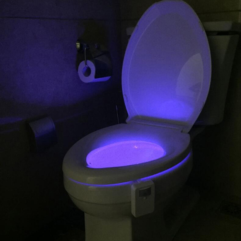 8 colour changing sensor bathroom bowl toilet light 21934