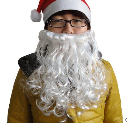 Christmas Wizard Old Man Dress Up White Curly Wigs Cosplay Lovely Father  Santa Claus Beard Wig Man Women Children Fancy Dress Up 99a973d5f