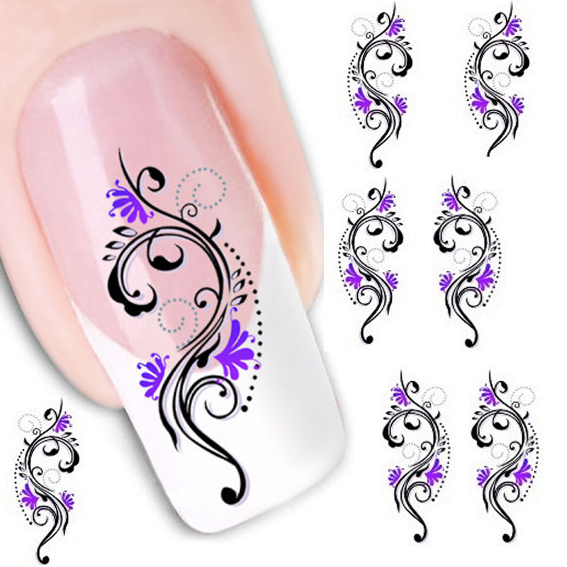 Health Beauty Nail Toe Art: Beauty Gril Water Transfer Slide Decal Sticker Nail Art