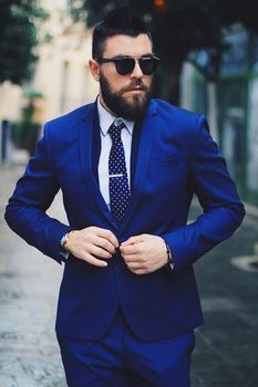Latest Coat Pant Designs Royal Blue Wedding Suits For Men Formal Custom Made Groom Fashion Slim Fit 2 Piece Tuxedo Masculino