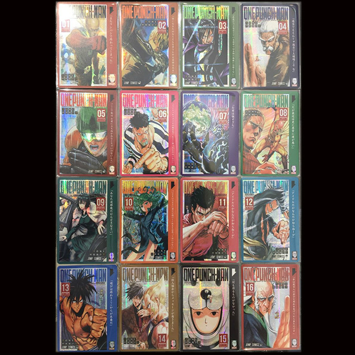 16pcs/set ONE PUNCH MAN Toys Hobbies Hobby Collectibles Game Collection Anime Cards