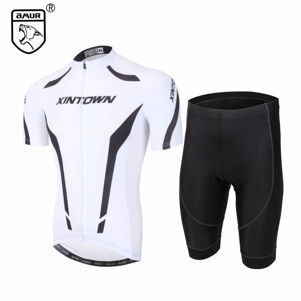 Amur Leopard Cycling Clothing Set Summer Breathable Men White Short Sleeve Cycling Jersey with Black Shorts полотенцесушитель milardo amur amusm10m49
