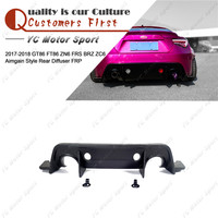 Car Accessories FRP Fiber Glass AG Style Rear Diffuser Fit For 2017 2018 GT86 FT86 ZN6 FRS BRZ ZC6 Rear Bumper Diffuser Lip