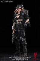 VCF 2029 1:6 черный женский Shooter стороны Подвижные модели фигурку солдата Модель