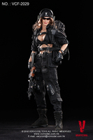 VCF 2029 1:6 black female shooter hand movable model soldier Action Figure Model