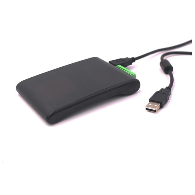 Escritorio rfid uhf epc gen 2 tag reader escritor con interfaz usb soporte sdk, software de demostración para control de acceso sistema