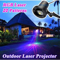 RGB 20 Patterns Christmas Lights Outdoor Laser Projector Garden Landscape Festival Lamps Waterproof IP65