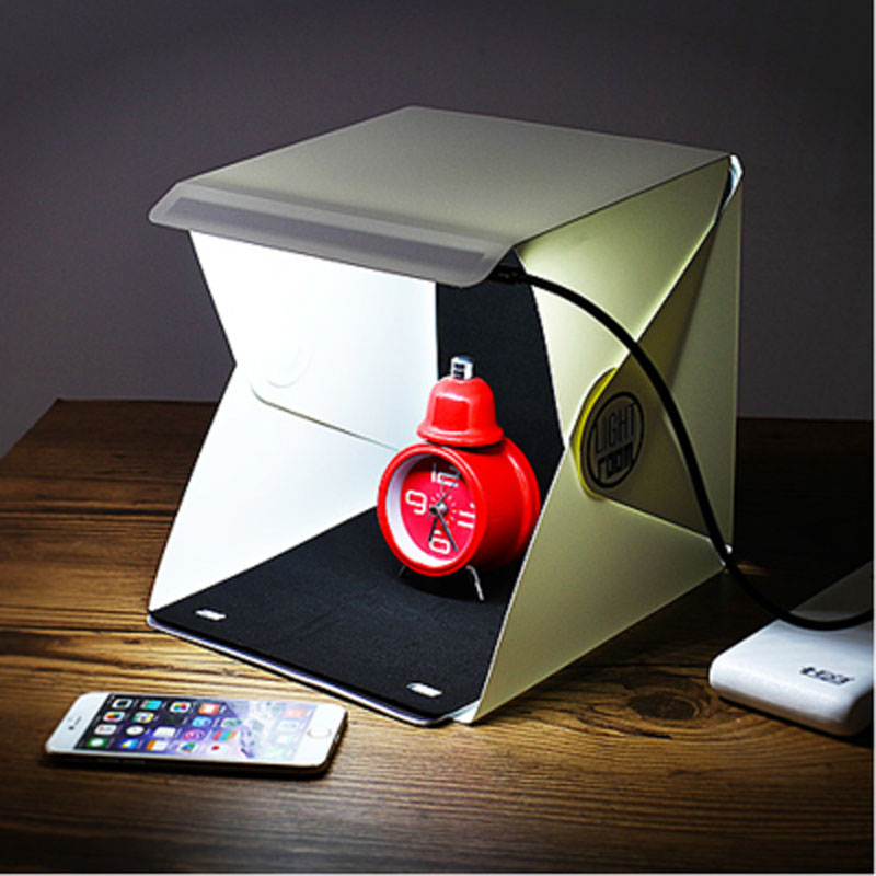 Mini Folding Detachable Photo Light Room Box Mini Photo Studio Box Lampshade Photography Tent Backdrop Lightbox 23 * 23 * 23cm