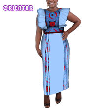 Fashion African Long Dresses for Woman Classic Print Butterfly Sleeve Dashiki  Maxi Dress Private Custom Clothes Plus Size WY341 89084bc3c4ae
