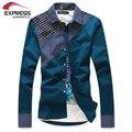 new men's clothing male slim shirts casual male long-sleeve shirt 2016 Free shipping