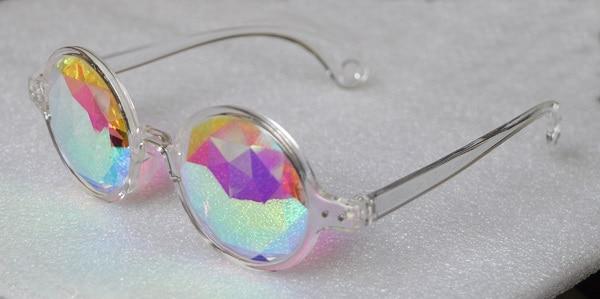 0f1752d4a99c4 Pink frame óculos caleidoscópio para festival de música em Óculos de ...