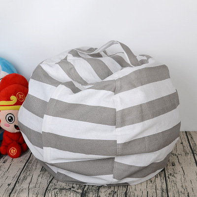 6 Colors Stuffed Animal Storage Bean Bag Chair For Kids - Pouf Ottoman For Toy Storage